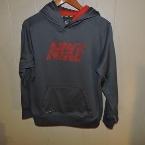 Boys Nike Spell Out Hoodie Sweatshirt therma-fit